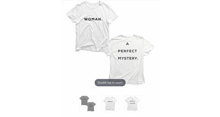 """katy perry 官網""""Woman"""" T恤"""