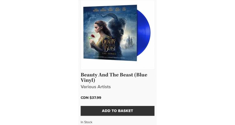 美女與野獸OST藍色黑膠