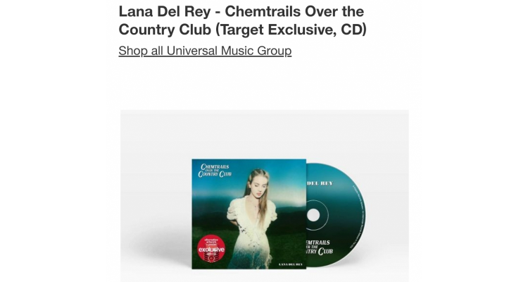 lana del Rey target限量封面CD