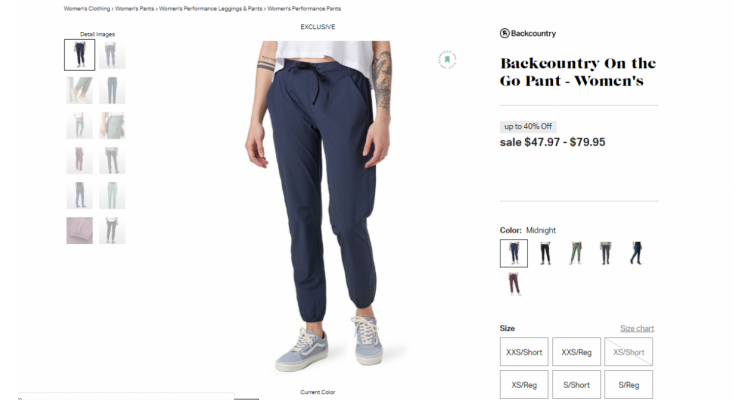 On the go pants 40% off