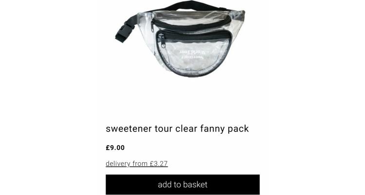 sweetener 透明腰包