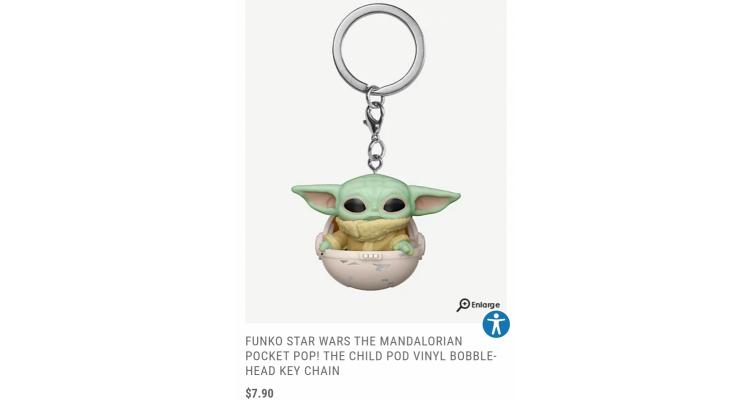 Baby Yoda Funko 鎖匙扣
