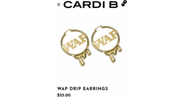 Cardi b WAP耳環