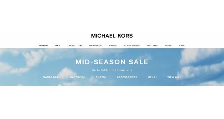 Michael Kors Midseason sales
