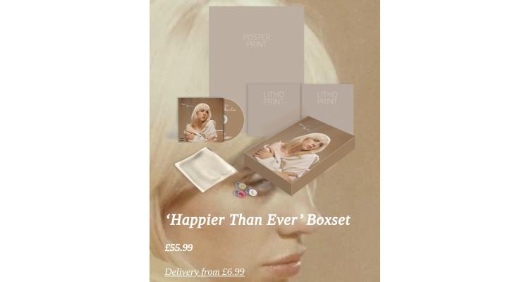 Billie eilish boxset album