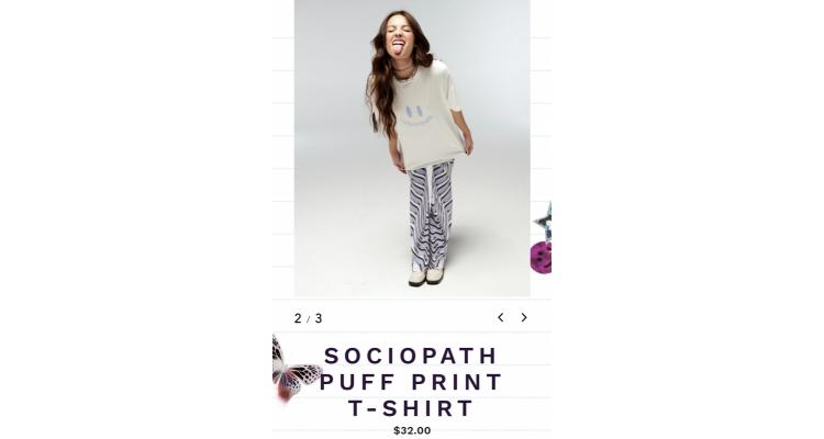 """sociopath"" t恤"