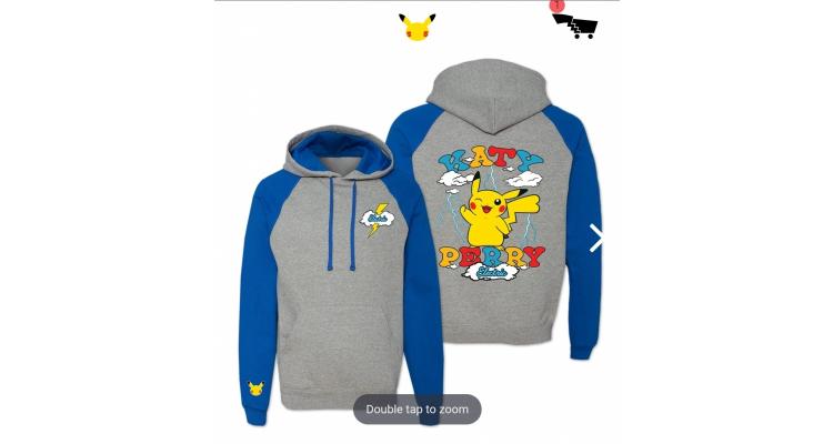katy perry聯乘pokemon hoodie