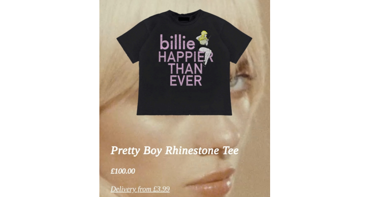 billie eilish T恤