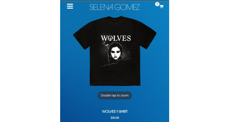 Selena Gomez Wolves T恤