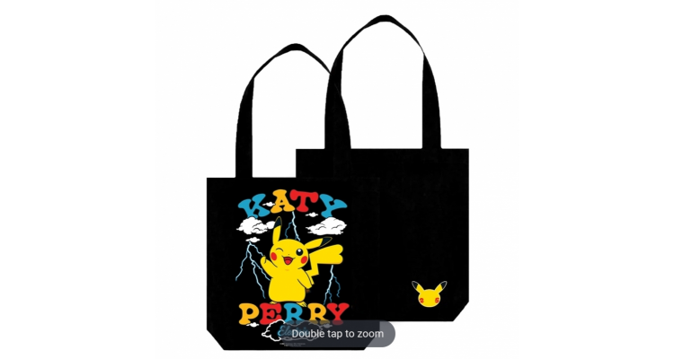 Katy perry x pokemon聯乘tote bag