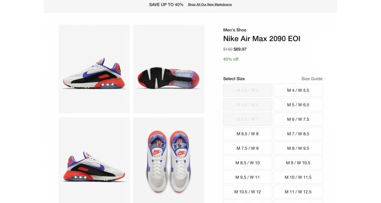 Nike Air Max 2090 EOI 43%off