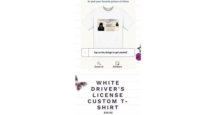 """客製化""""driver's license"""" T恤"""