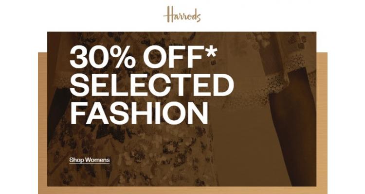 Harrods 30%off
