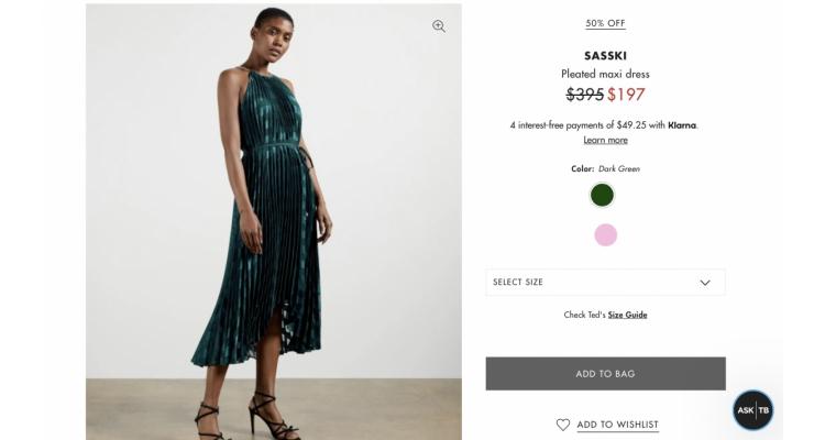 SASSKI Pleated maxi dress 50%off