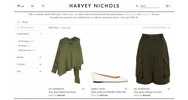 HARVEY NICOLES 40% off