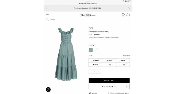 Designed dress 55% off