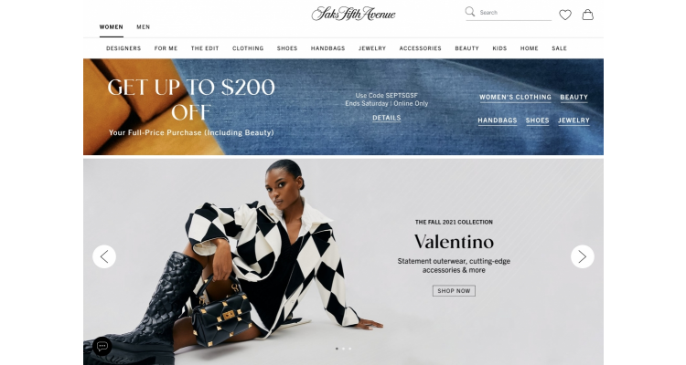 Saks Fifth Avenue up to $200 off