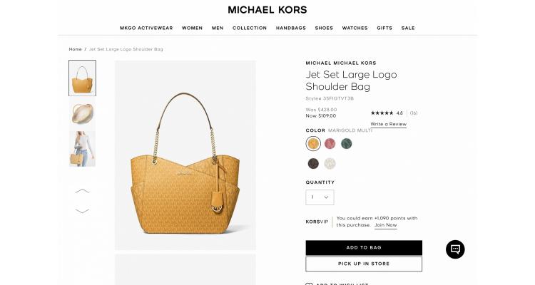 Michael Kors shoulder bag 75%off