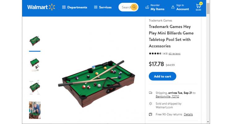 迷你桌球玩具 $17.78(原價$44.99)