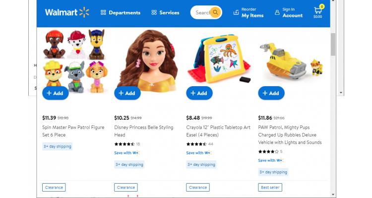 Walmart 兒童玩具 低至3折 清倉