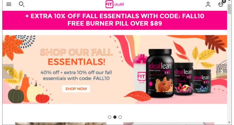 IdealFit 低至5折+滿$20享額外8折